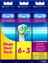 Oral-B Floss Action Voordeelpak - 6 + 3 Stuks - Opzetborstels