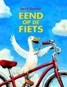 Vogels - eend op de fiets