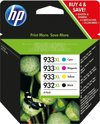 HP 932XL / 933XL - Inktcartridge / Hoge Capaciteit / 4 Pack