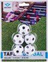 Tafelvoetbalballen 5 st. zwart/wit in blister