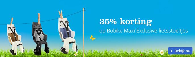 35% korting op Bobike Maxi Exclusive fietsstoeltjes