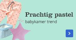 Prachtig pastel, babykamer trend