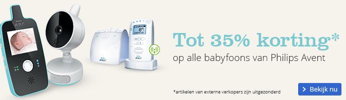 Tot 35% korting op alle babyfoons van Philips Avent