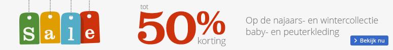 Tot 50 procent korting Op de najaars- en wintercollectie baby- en peuterkleding