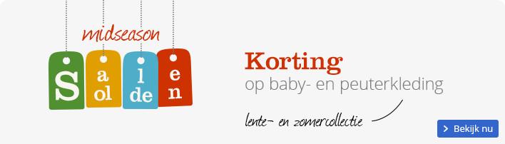 Midseason sale - korting op baby- en peuterkleding