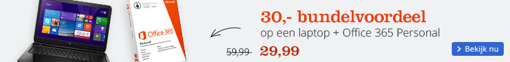 30 euro voordeel op een laptop + office 365 personal