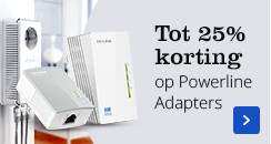 Tot 25% korting op Powerline adapters