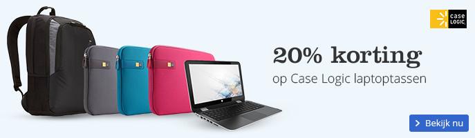20% korting op Case Logic laptoptassen