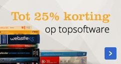 Tot 25% korting op topsoftware