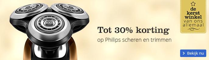Tot 30% korting op Philips scheren en trimmen