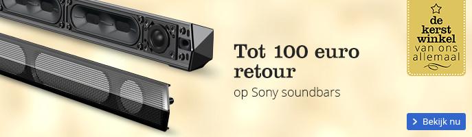 Tot 100 euro retour op Sony soundbars