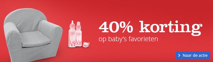 40% korting op baby's favorieten