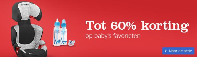 Tot 60% korting op baby's favorieten