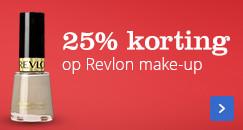 25% korting op Revlon make-up