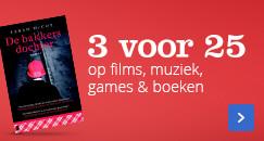 3 voor 25 op films, muziek, games & boeken