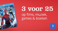 3 voor 25 op films, muziek, games en boeken
