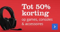 Tot 50% korting op games, consoles & accessoires