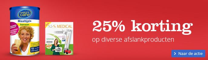 25% korting op diverse afslankproducten