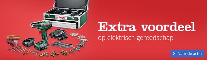 Extra voordeel op elektrisch gereedschap