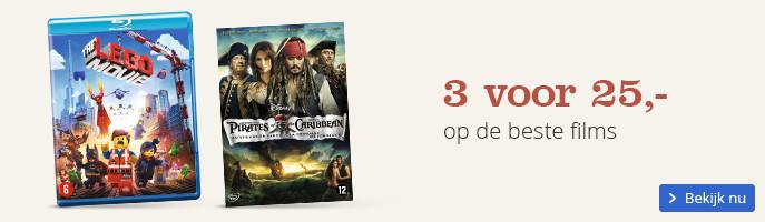 3 voor 25,- op de beste films