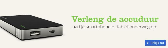 Verleng de accuduur laad je smartphone of tablet onderweg op