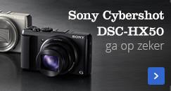 Sony Cybershot DSC-HX50 | garantie voor succes