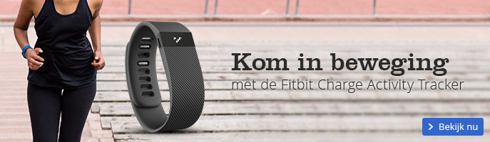 Kom in beweging met de Fitbit Charge Activity Tracker