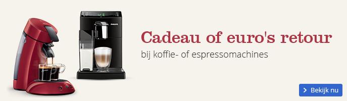 Cadeau of euro's retour bij een koffie- of espressomachines