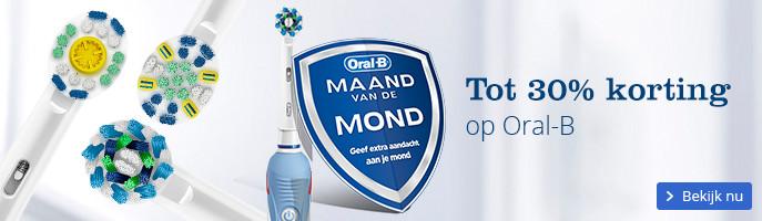 Tot 30% korting op elektrische tandenborstels van Oral-B