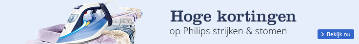 Hoge kortingen   op Philips strijken & stomen