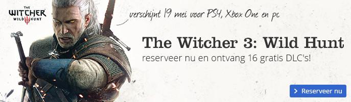 The Witcher 3: Wild Hunt reserveer nu en ontvang 16 gratis DLC's! Verschijnt 19 mei voor PS4, Xbox One en pc