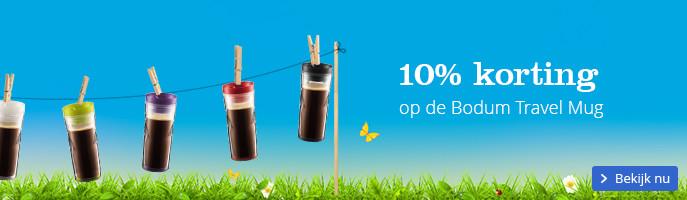 10% korting op de Bodum Travel Mug