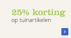 25% korting op tuinartikelen