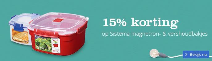 15% korting | op Sistema magnetron- & vershoudbakjes