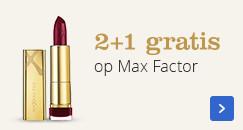 2+1 gratis op Max Factor