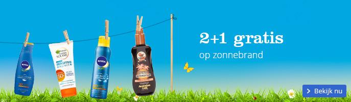 2+1 gratis op zonnebrand