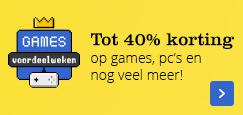 tot 40% korting op games, pc's, bordspellen en meer