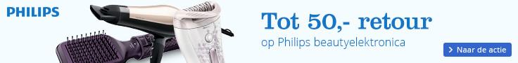 Tot 50,- retour | op Philips beautyelektronica