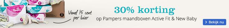 30% korting op Pampers maandboxen