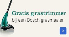 Gratis grastrimmer bij een Bosch grasmaaier