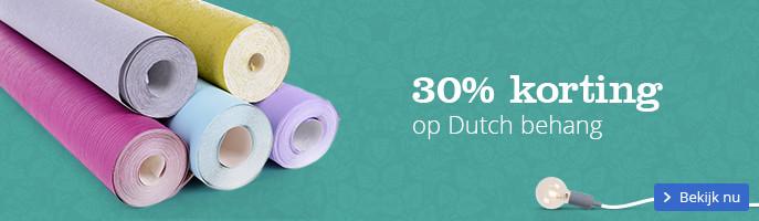 30% korting op Dutch behang