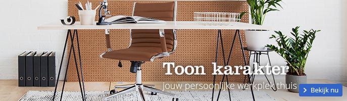 Toon karakter met jouw persoonlijke werkplek thuis