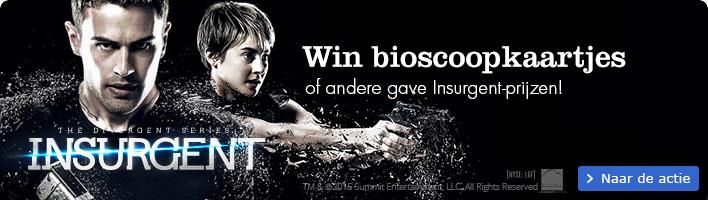 Insurgent deel 2 van de Divergent-rtilogie. win bioscoopkaartjes en andere prijzen
