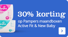 30% korting op Pampers maandboxen Active Fit en New baby