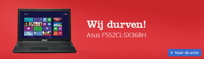 Wij durven! Asus F552CL-SX368H Intel Core i7 | 4 GB DDR3 | 500 GB HDD