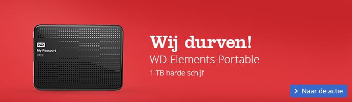 Wij durven! | WD Elements Portable 1 TB harde schijf
