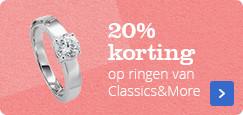 20% korting | op ringen van Classics&More