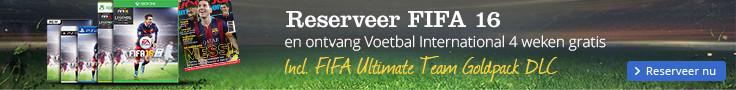 Reserveer FIFA 16 | en ontvang Voetbal International vier weken gratis
