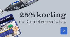 25% korting op Dremel gereedschap