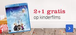 2+1 gratis op kinderfilms